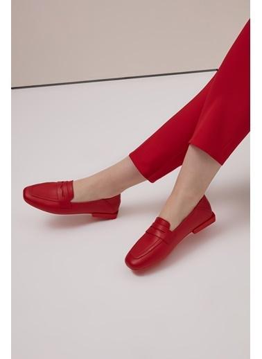 Gusto Deri Loafer - Kırmızı Deri Loafer - Kırmızı Kırmızı